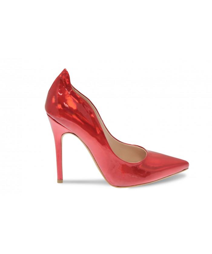 Escarpin Eden:Verni Miroir Rouge