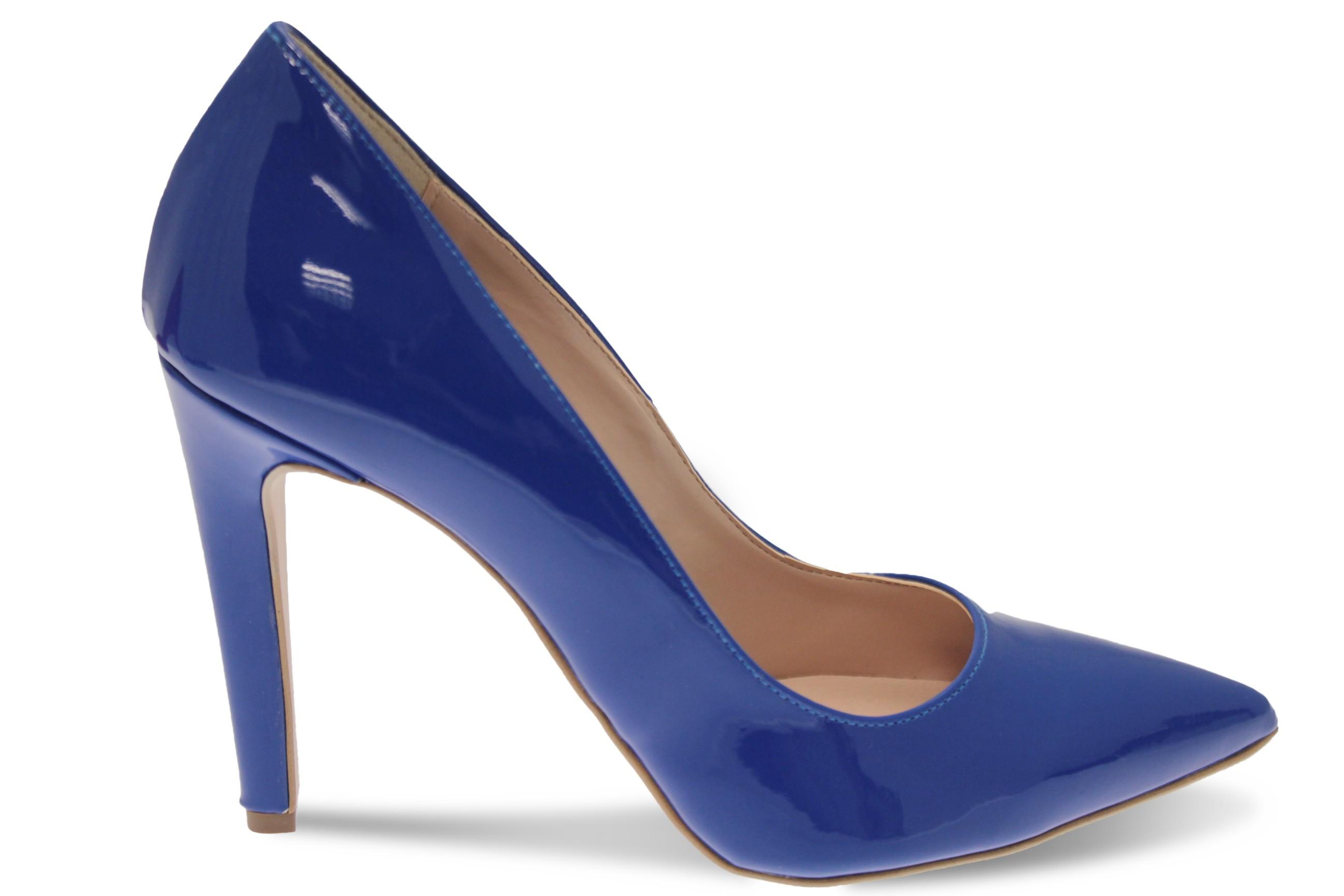 Escarpins Bleu Roi Vernis