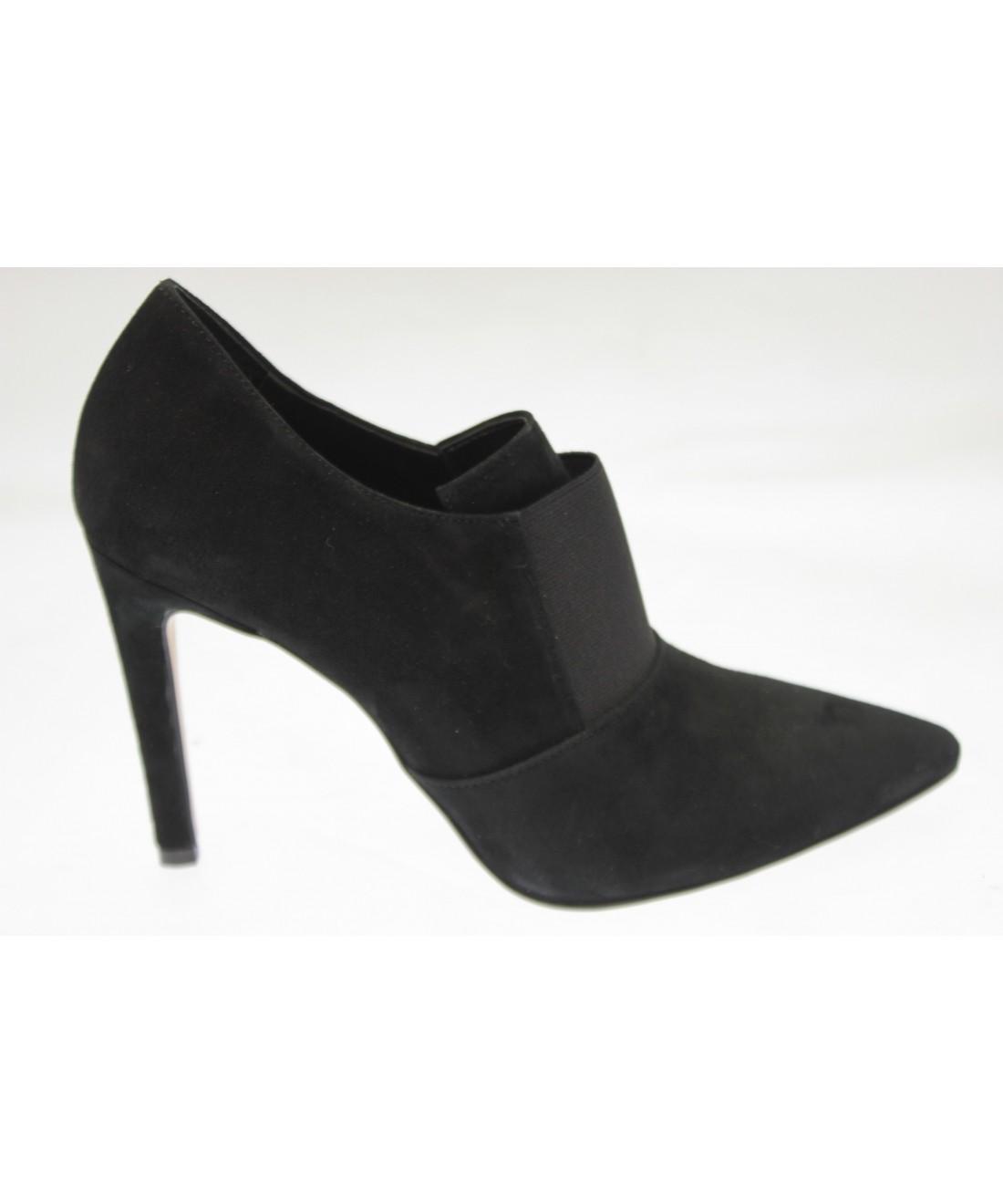 2 en 1 bottine escarpin femme daim noir petit talon osmose shoes. Black Bedroom Furniture Sets. Home Design Ideas