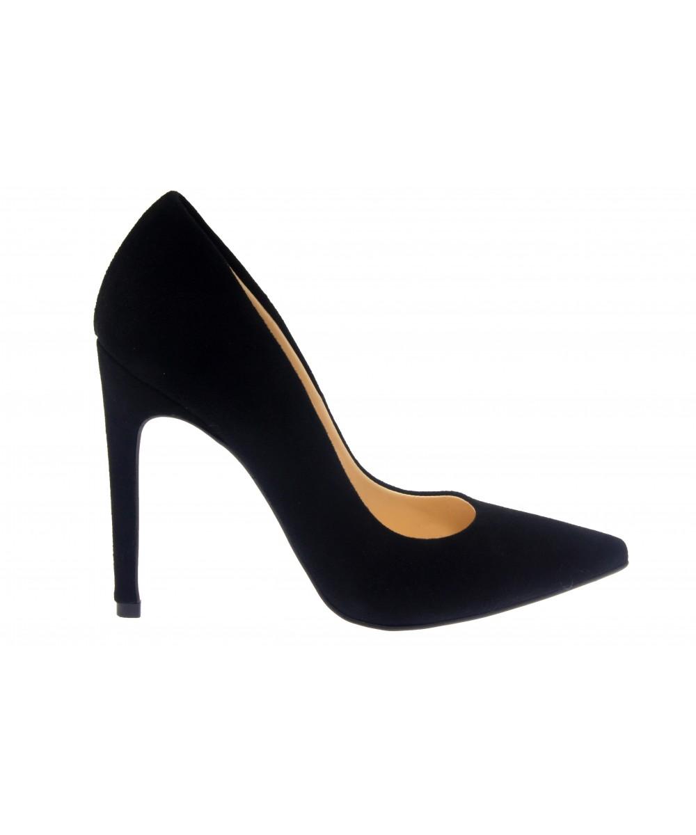 soyez irr sistible en osmose shoes escarpin femme daim noir talon. Black Bedroom Furniture Sets. Home Design Ideas