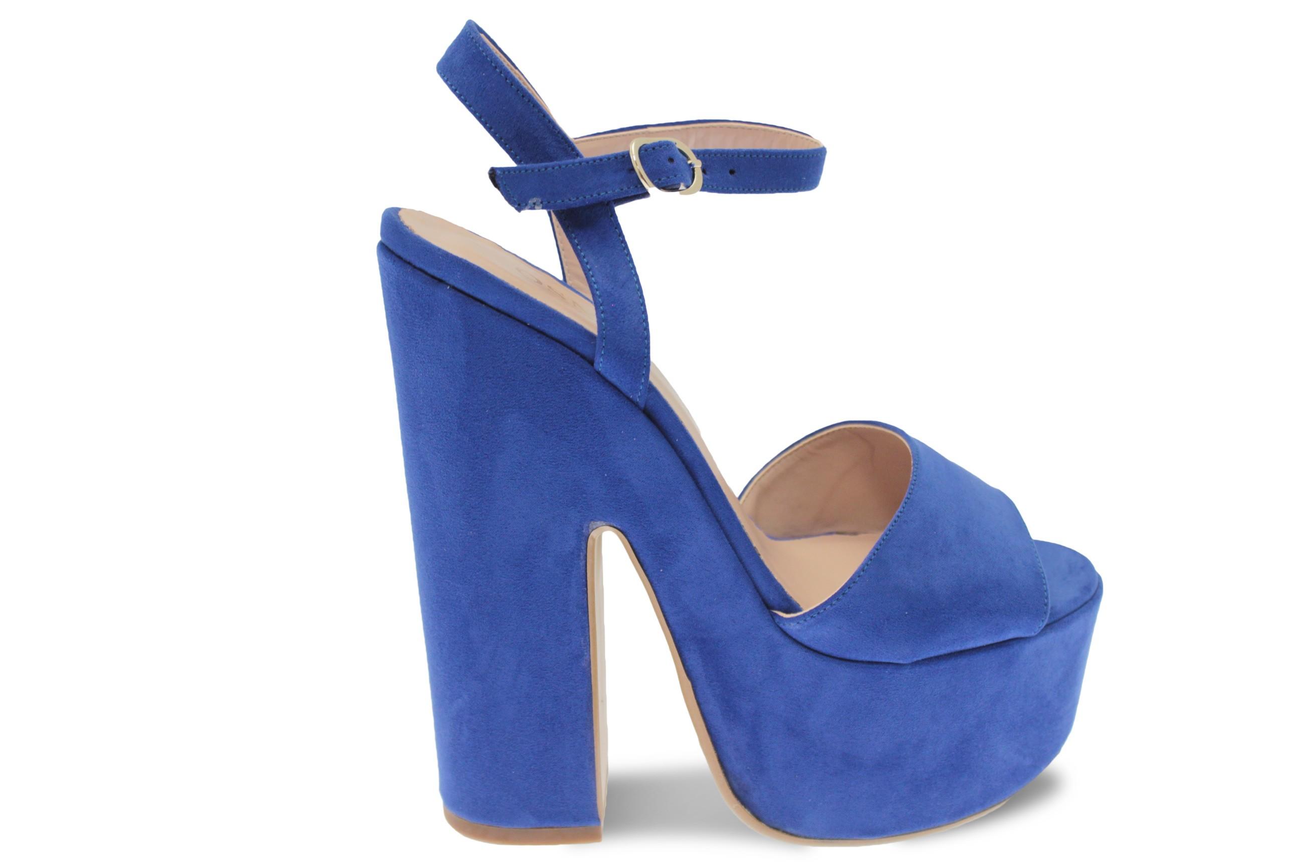 Osmose En Vintage Daim Sandale Dh2e9i Chic Adoptez Bleu La Rétro Touch vwON8nm0