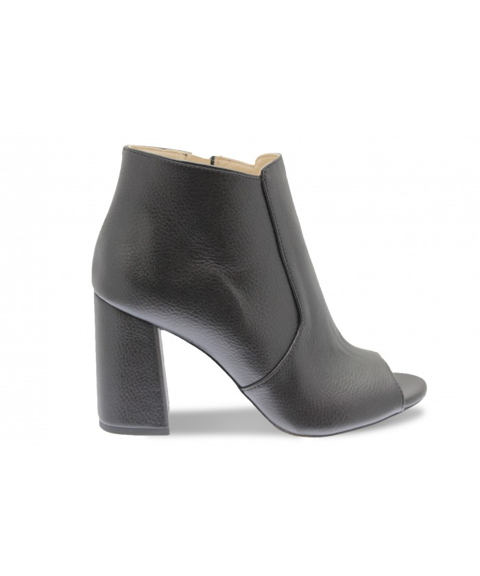 Bottine Samantha: Cuir Noir