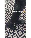 Bottine Kalya : Cuir Noir & Bande Elastique Talon Carré