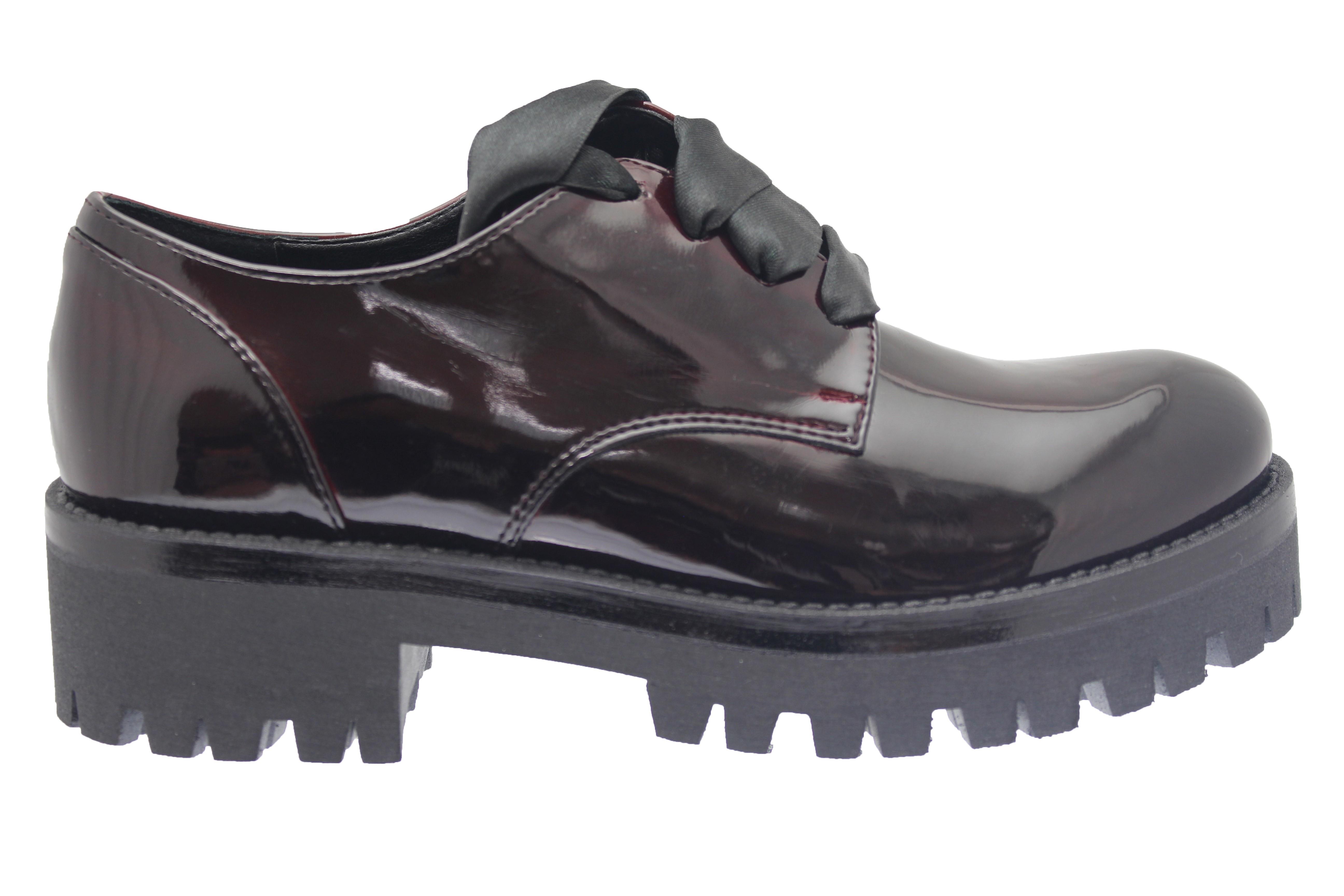 En Crantée Chic Attitude Garçonne Osmose ShoesDerbies Vernis Bordo tsrdChxQ