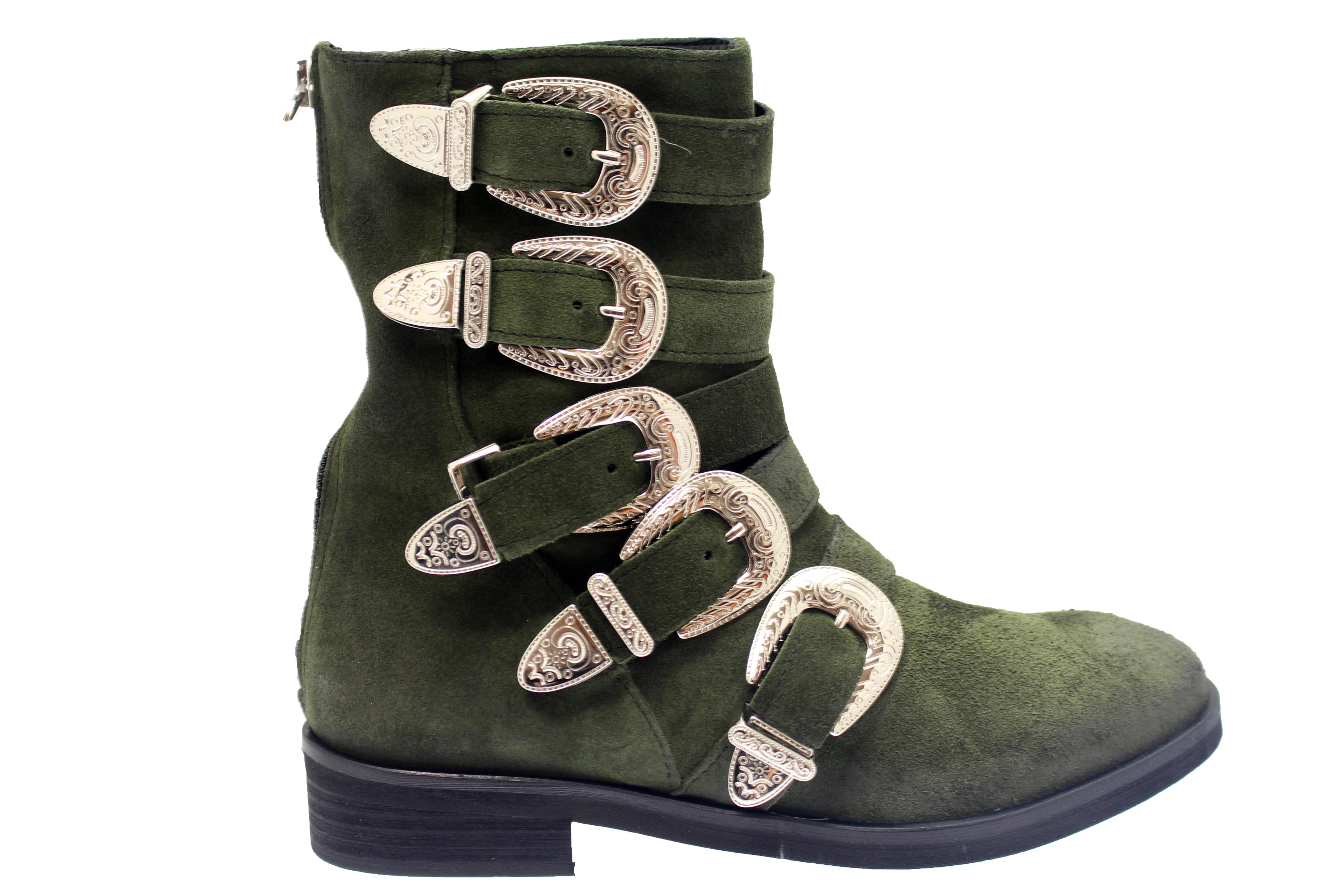 Style western Chic à la Frenchy en OSMOSE shoes  boots effet tiag kaki 29636201c682
