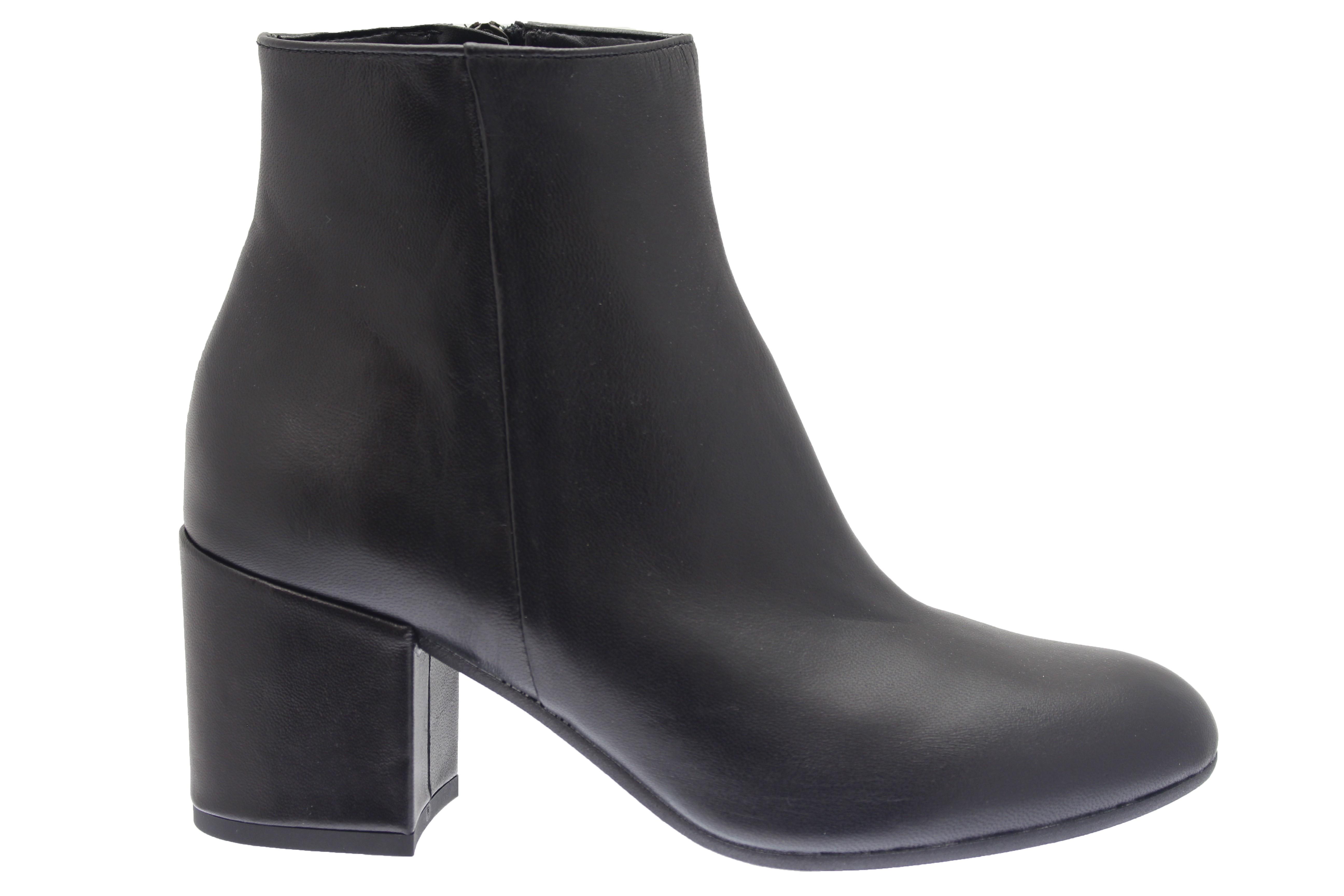 La Sur Petit Bottine Paris Osmose Talon Cuir Shoes Chic À Noir Rétro pEqnCC