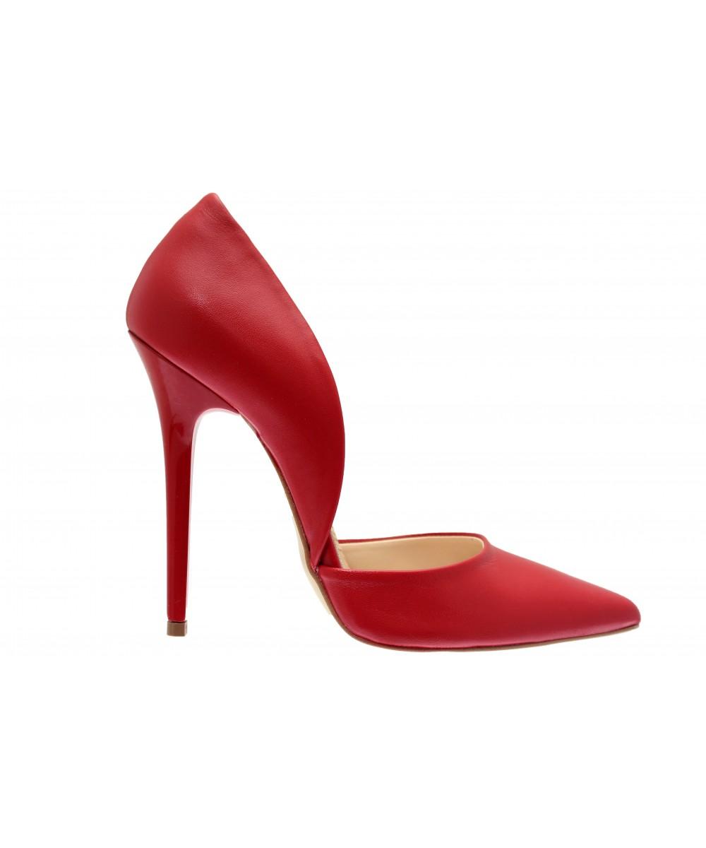 Renversante En Cuir Osmose Femme Rouge Talon ShoesEscarpin Aiguille J1clTFK