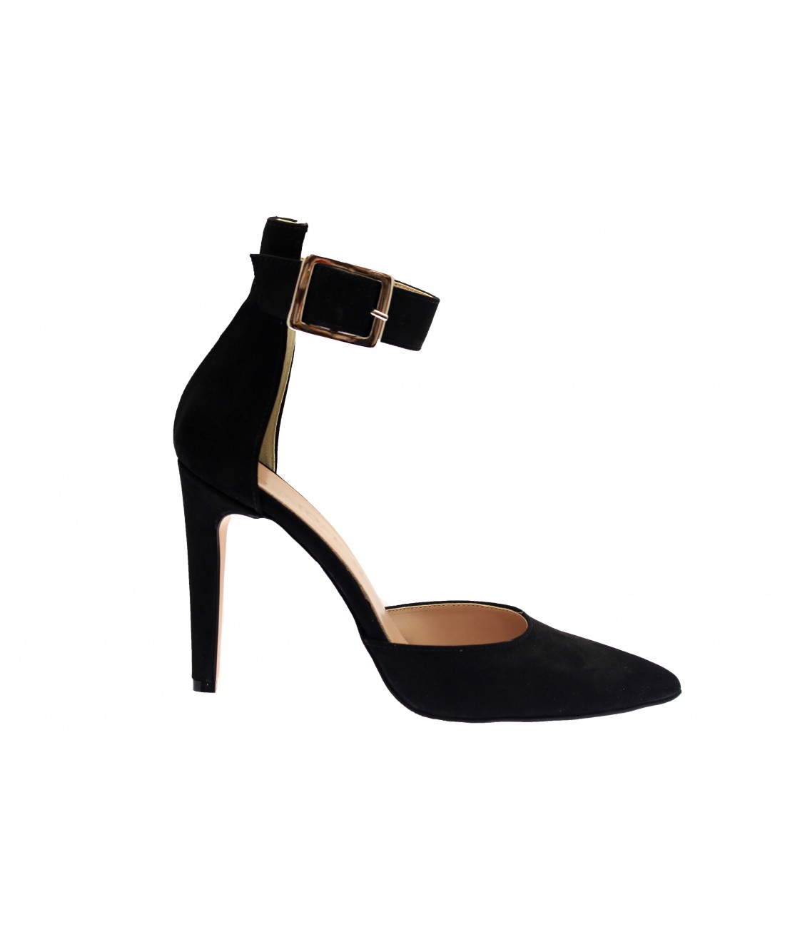 Touche séduction en escarpin femme daim noir à bride OSMOSE Shoes 2018 431e7a20310d