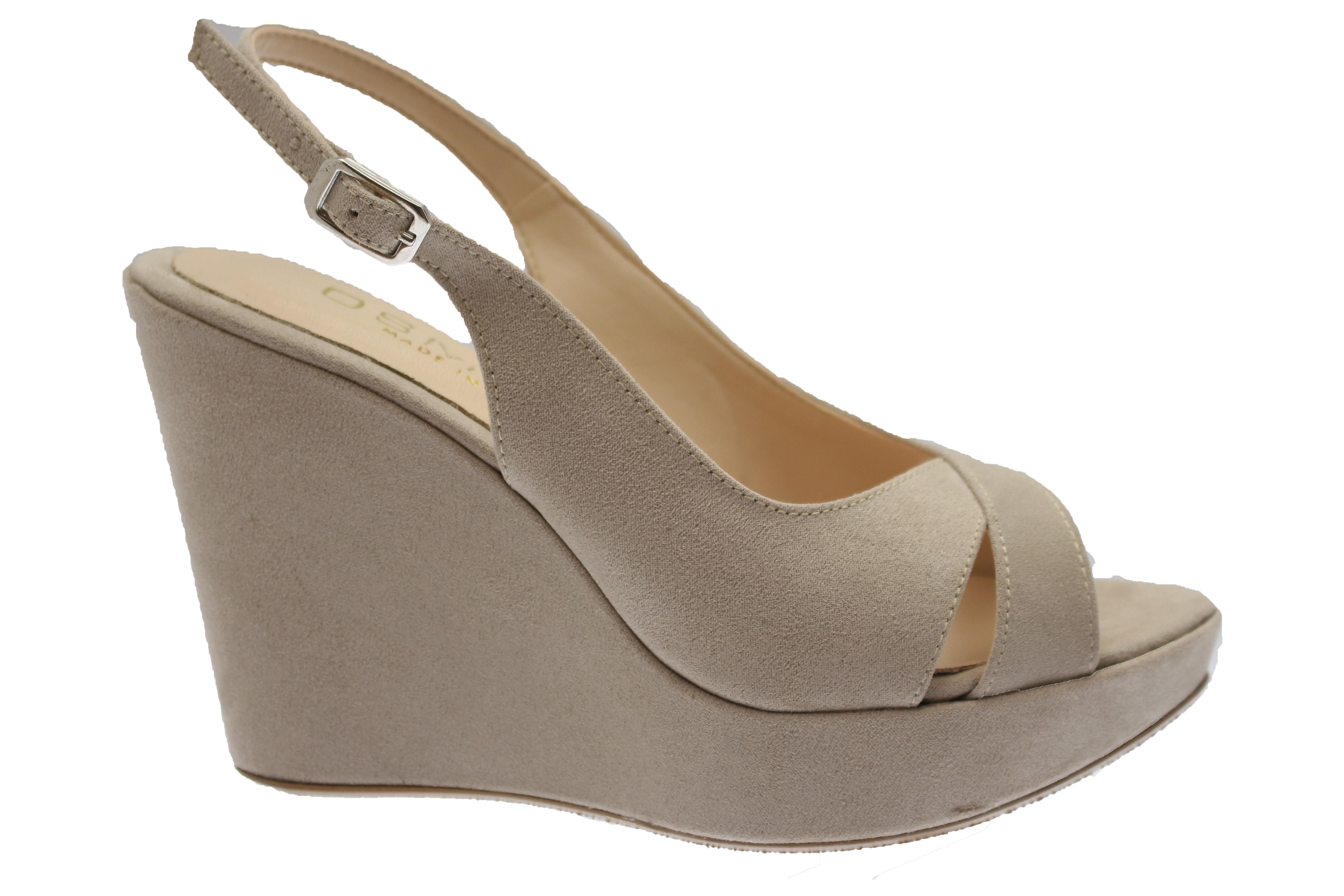02e6ab42df7f Compensée must have OSMOSE shoes effet daim beige confort à prix doux