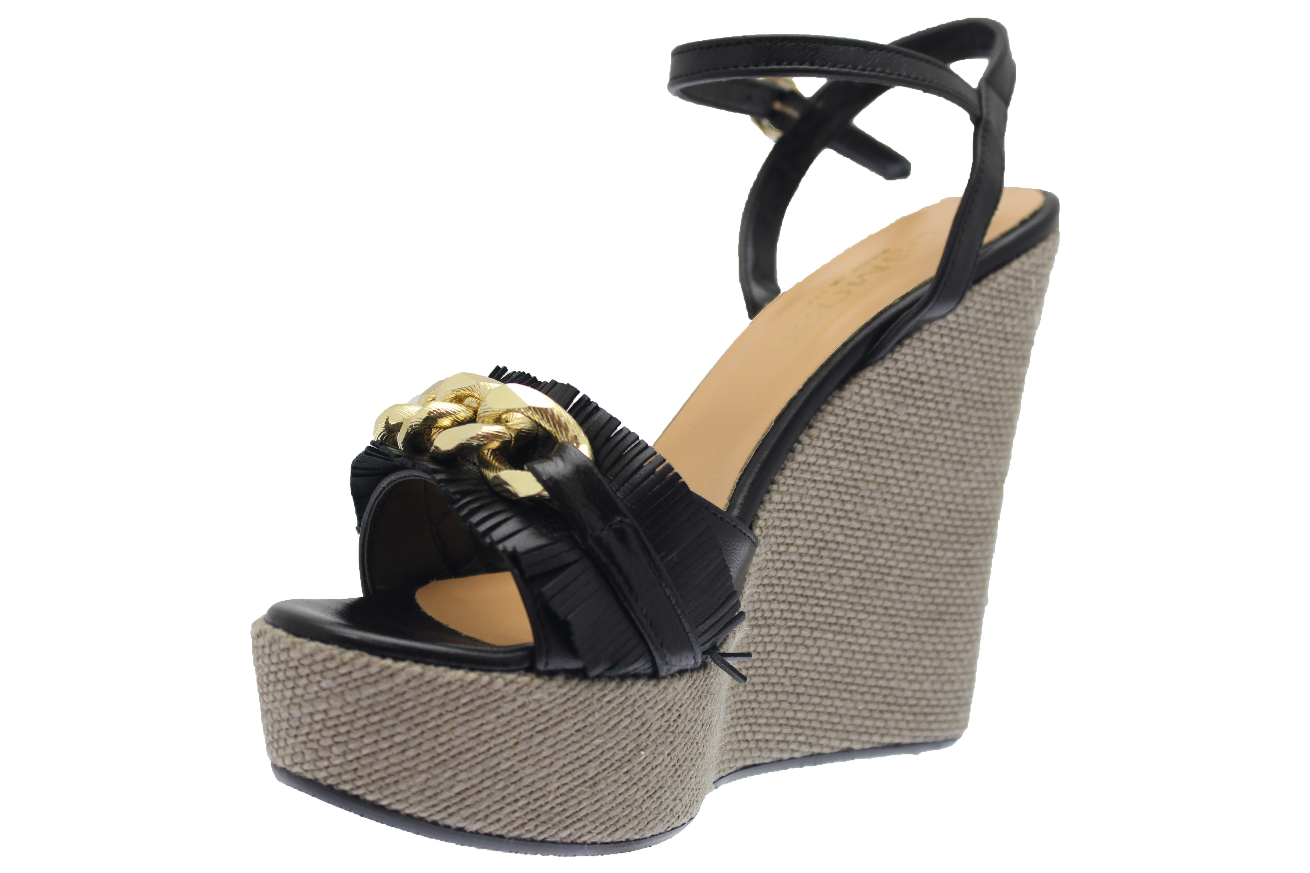 Touche De Chaussure Shoes Black Compensée Paris En La Femme Osmose Qrdhst