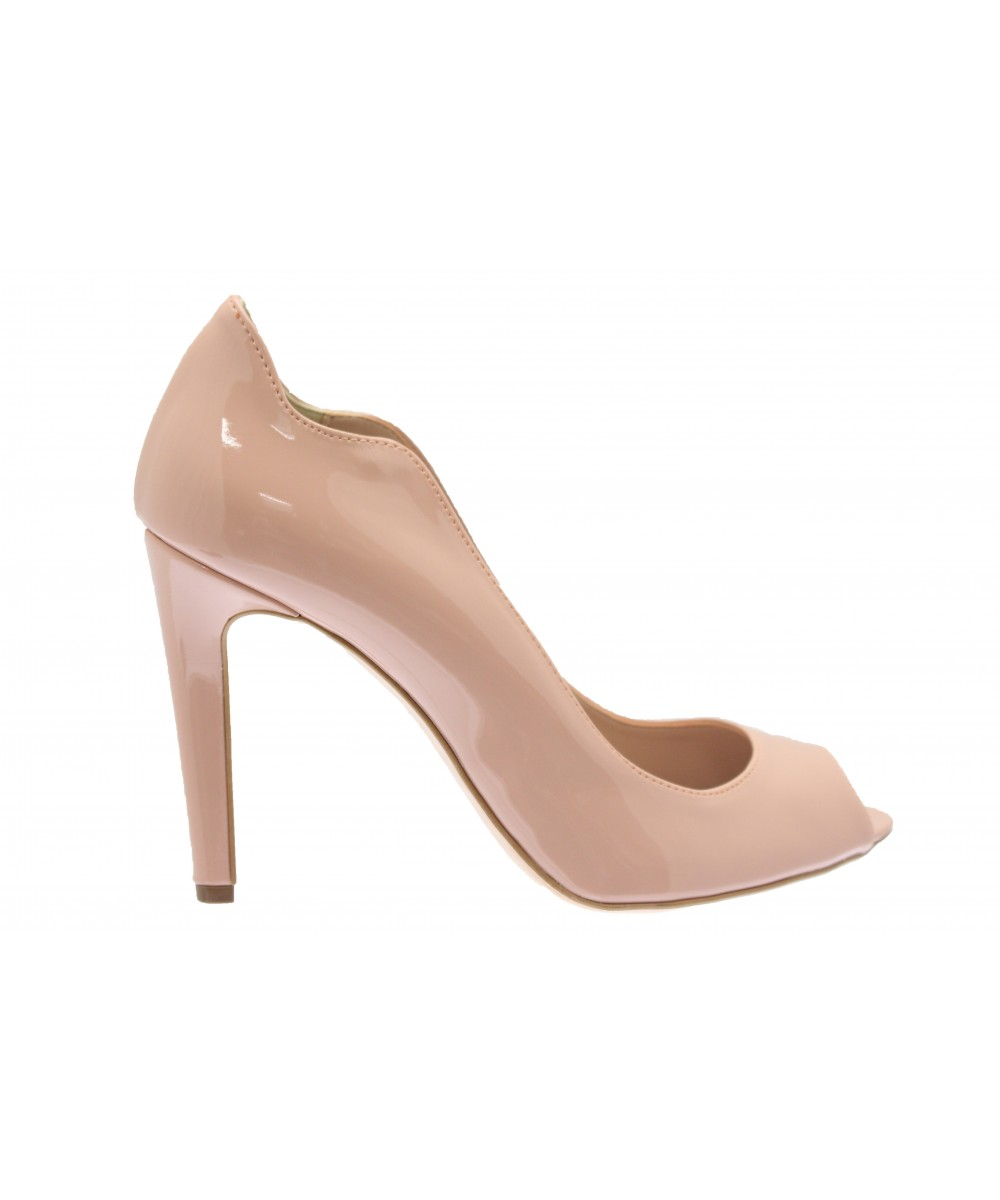 c80caffccc62 Vague chic en OSMOSE SHOES  escarpin femme vernis nude ajouré à talon