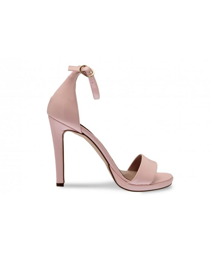 Sandale Line:Verni Rose poudré à bride & talon