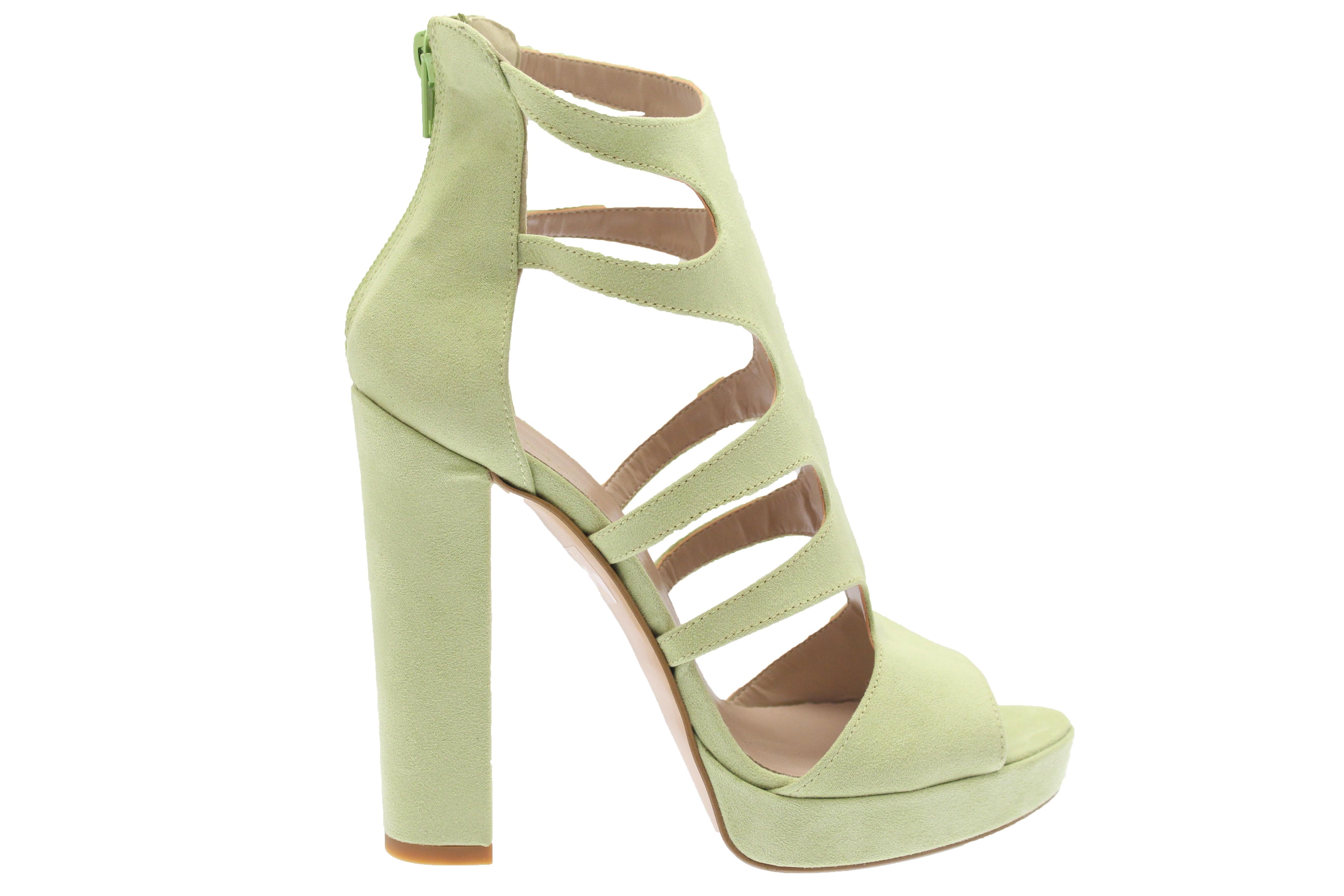 Talon Daim Sublime Sandale Shoes Vert Osmose Pastel Nouvelle Couleur wlOkTZiuPX