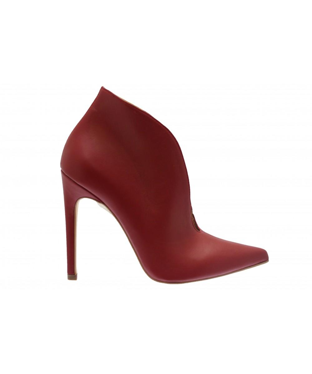 81526e87470388 Retour de l'escarpin bottine femme OSMOSE Shoes Paris cuir noir à talon