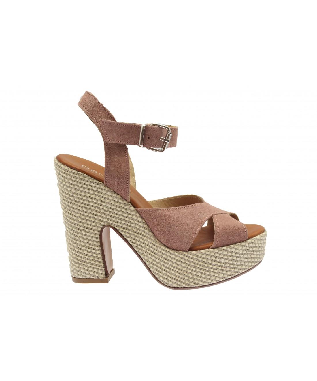 Osmose Rose Shoes Daim Gourmandise ParisSandale Nouvelle Compensée Y7Ibyfg6vm