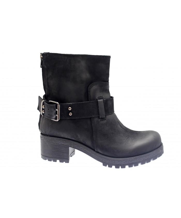Boots Lena: Nabuck Noir