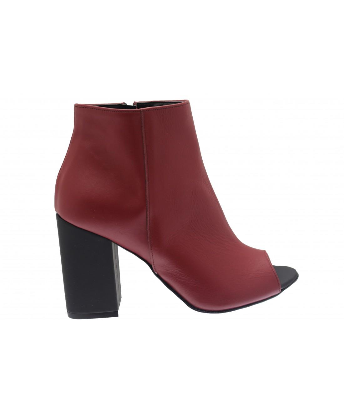 fondez avec tendance couleur bottine cuir bordo ajour osmose shoes. Black Bedroom Furniture Sets. Home Design Ideas