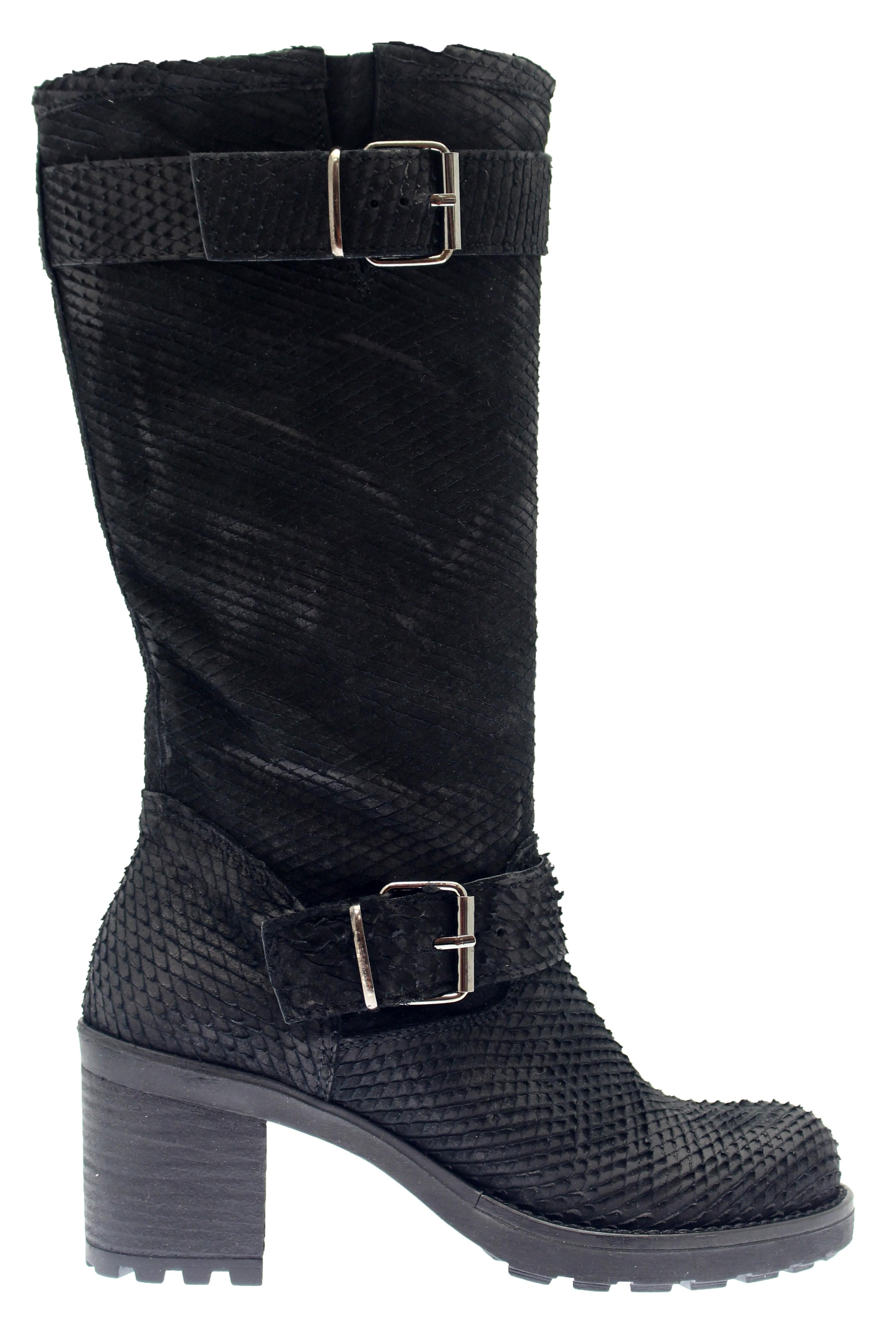 Botte Motarde python noir femme OSMOSE shoes paris à prix dingue