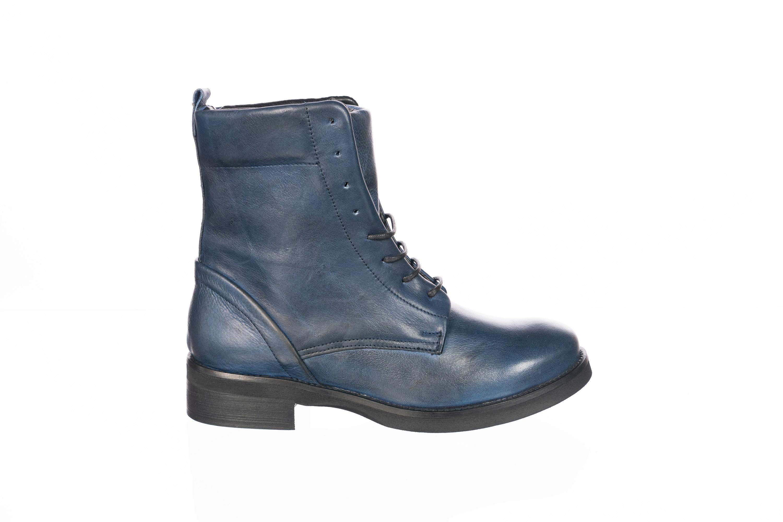 bottines lacets bleu femme