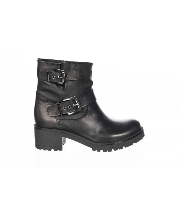 5423 boots cuir noir