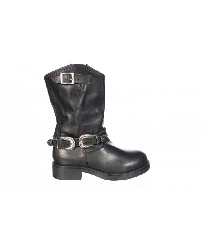 Penelope-harley boots cuir noir