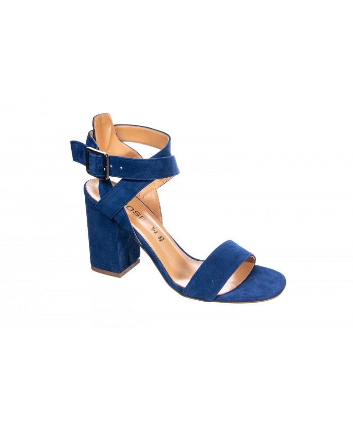 Sandale Marina: Daim bleu Roi