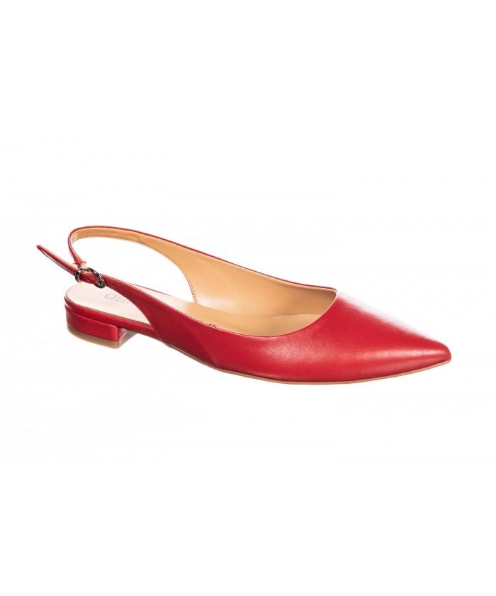 Sandale Taya : Cuir Rouge
