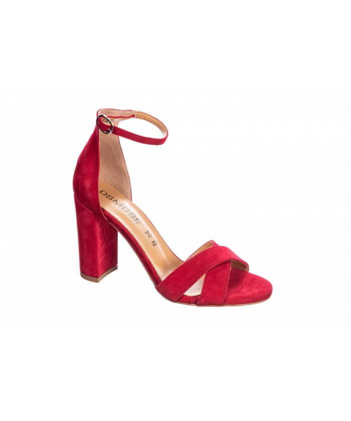Sandale Daim Rouge