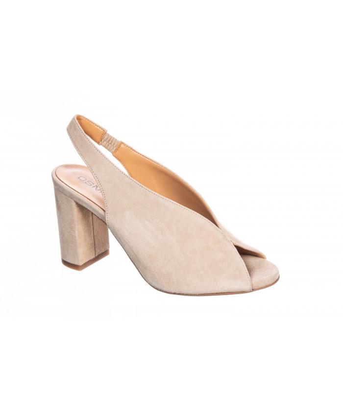 Sandale cuir nude