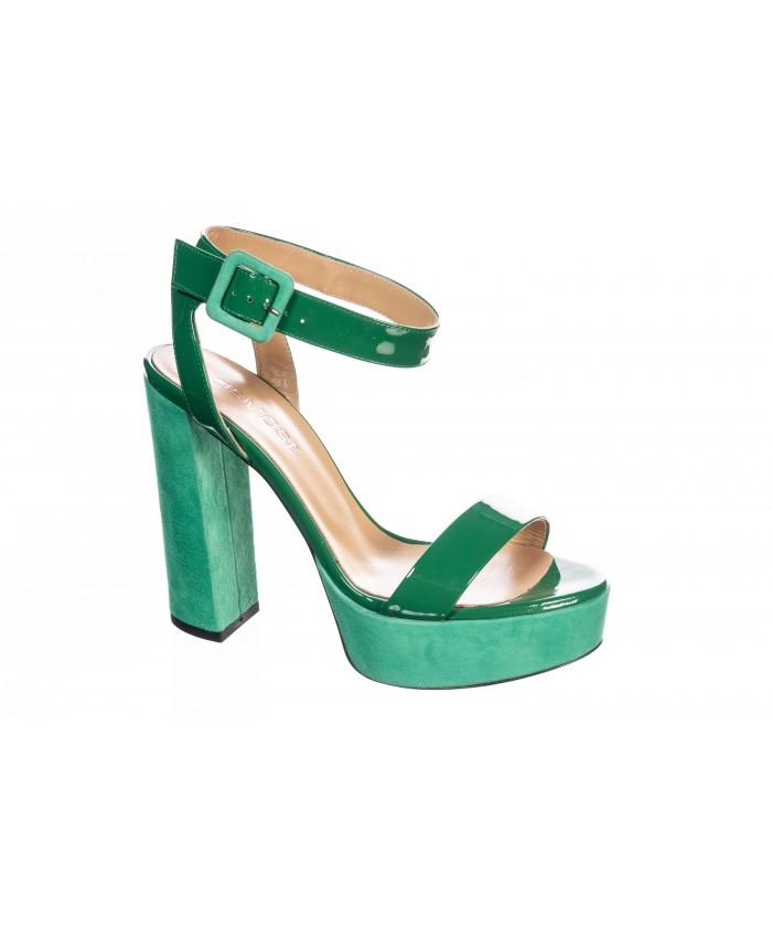 Sandale Vernis Vert