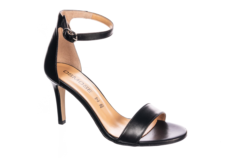 Modernité efficace: sandale à petit talon & brides Osmose