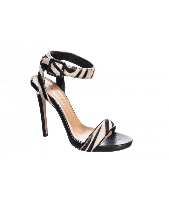 Sandale Zebré Noir & Blanc
