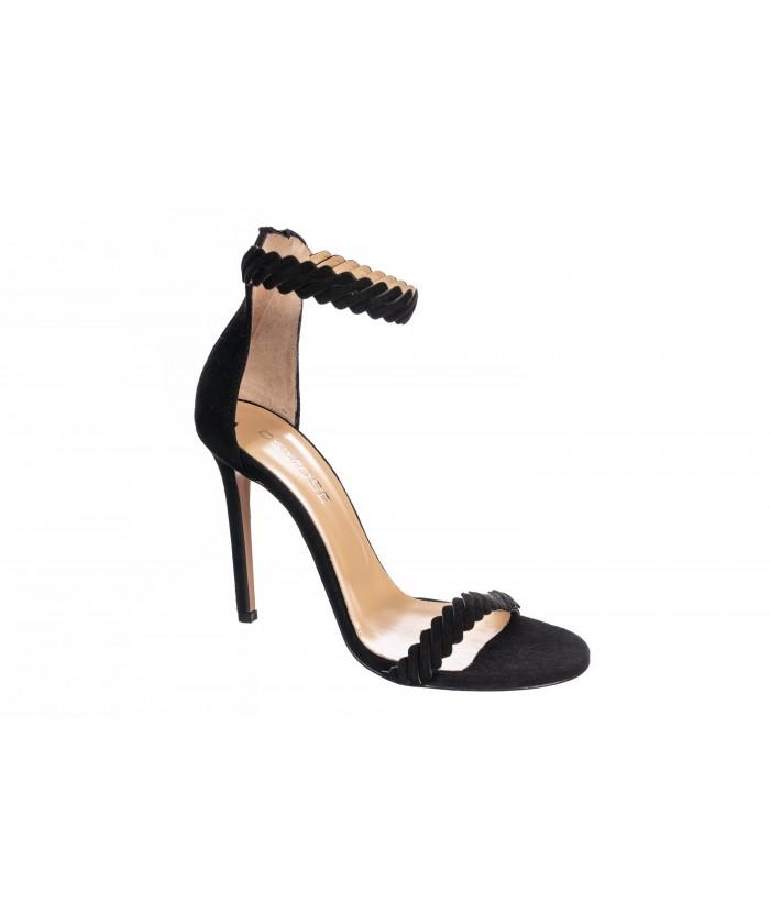 Sandale Noir à Bride & à Talon