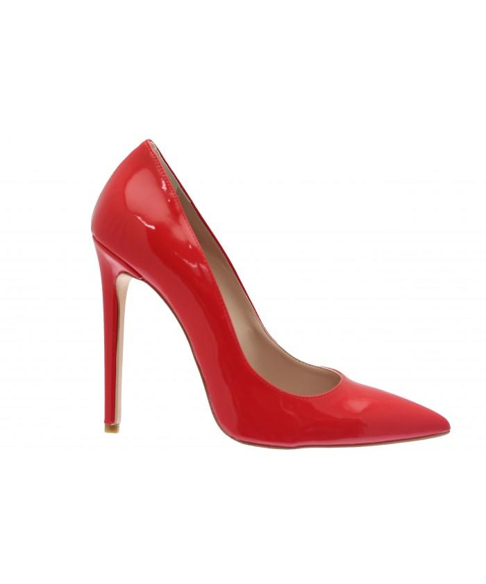 Escarpin Lucinda : Vernis Rouge