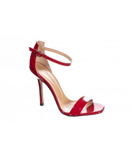 Sandale Five : Vernis Rouge à Bride & Talon