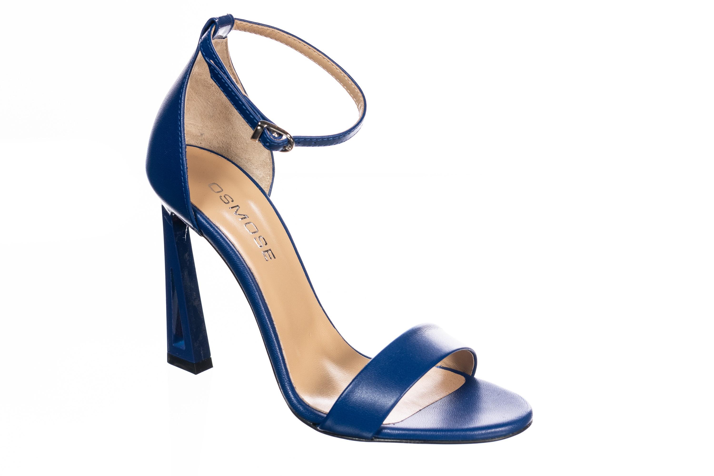 sandales à talons ouvertes bleu roi