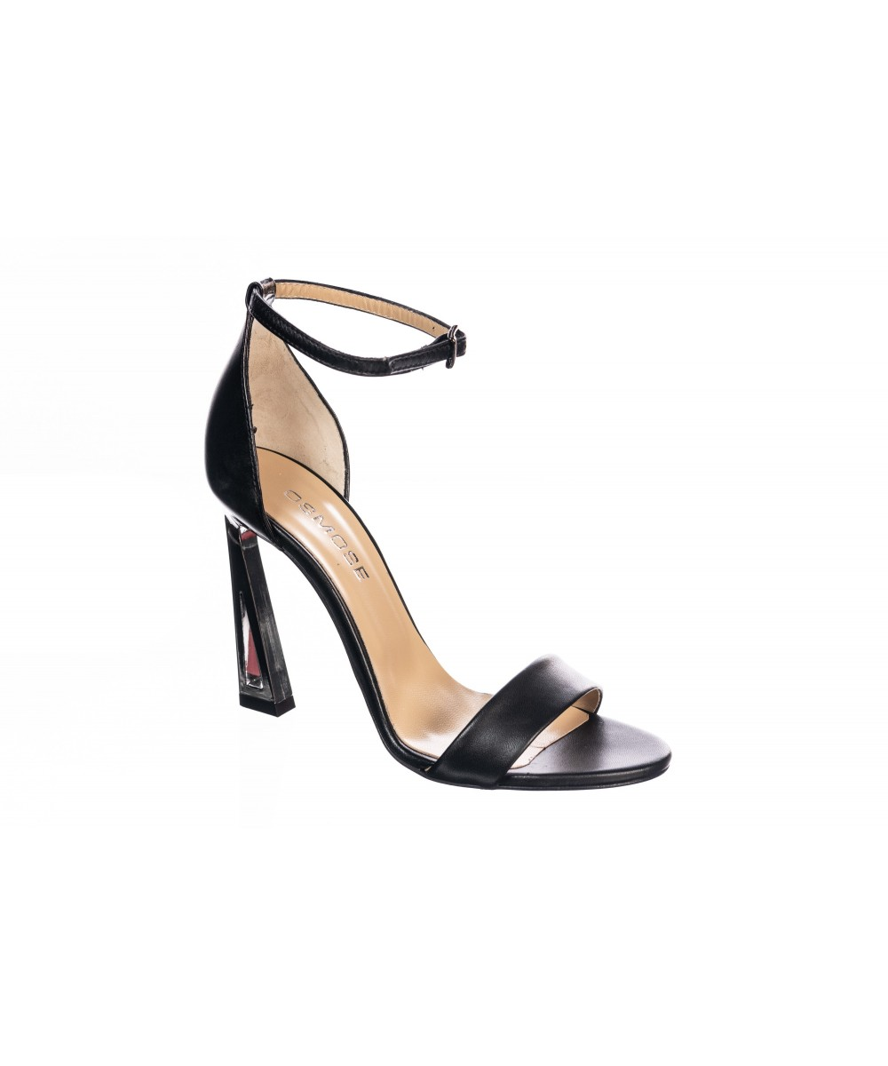 Sandale : Cuir à Bride & Talon Graphique