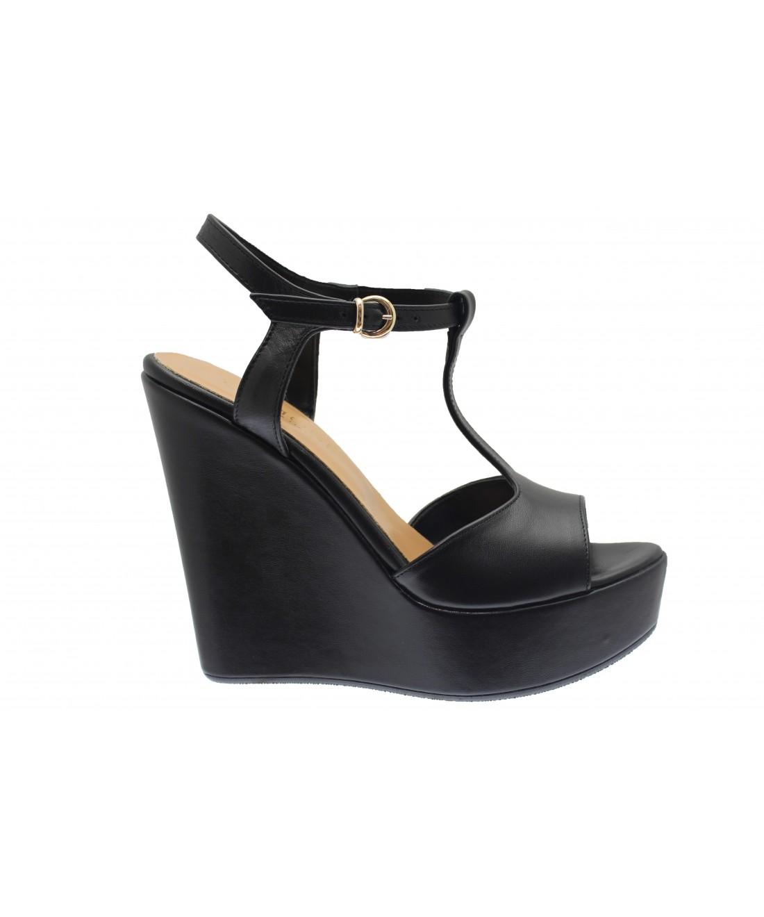 Sandale Shoes Compensée Prix Osmose Renversant À Cuir Femme Noir Paris P0wOnk