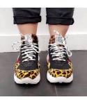 Basket Lucie: Zébré & leopard Multicolore à semelle layer