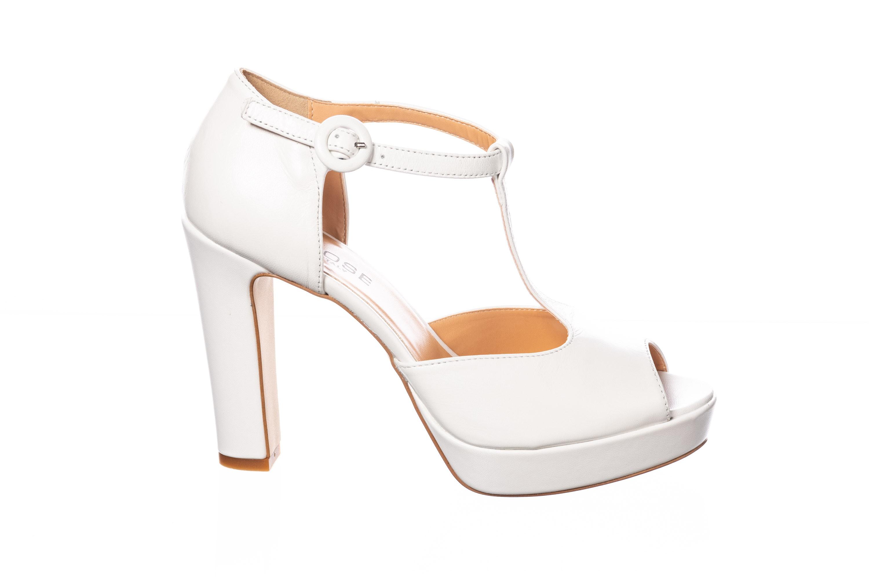 Paris Shoes Talon Sandale En À Carré Donnez Femme Le Blanc Dans Osmose Nm8O0wyvnP