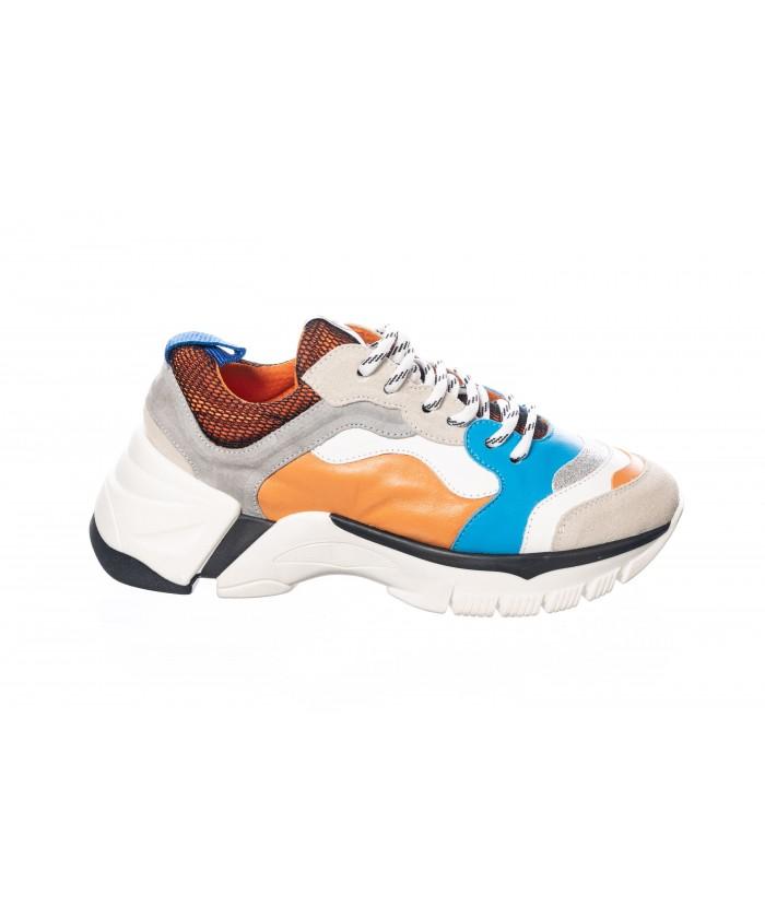 Basket : Poulain Leopard & Zebre Multicolor à semelle gomme