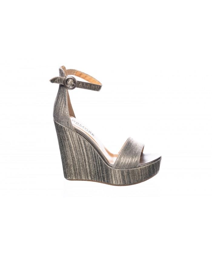 Sandale Bronze Talon SinaïCuir Plissé À PiuTOkXZ