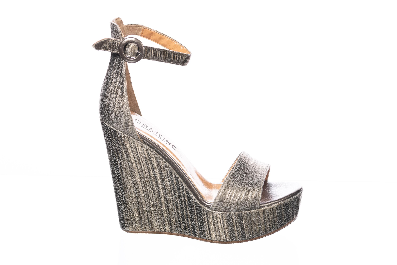 Nouvelle ligne de compensée étincelante cuir plissé bronze