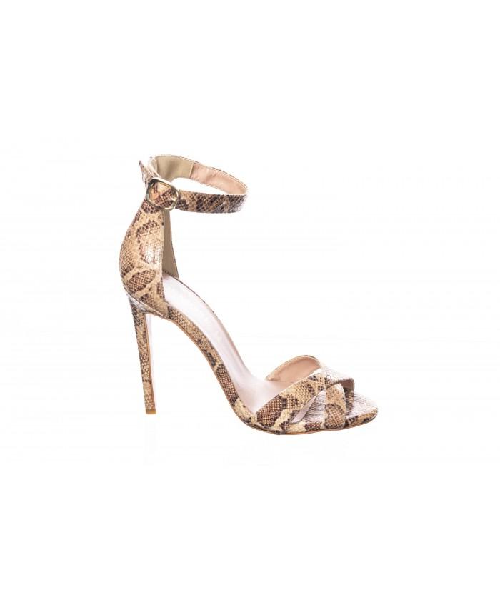 Sandale : Python Camel à Bride & Talon