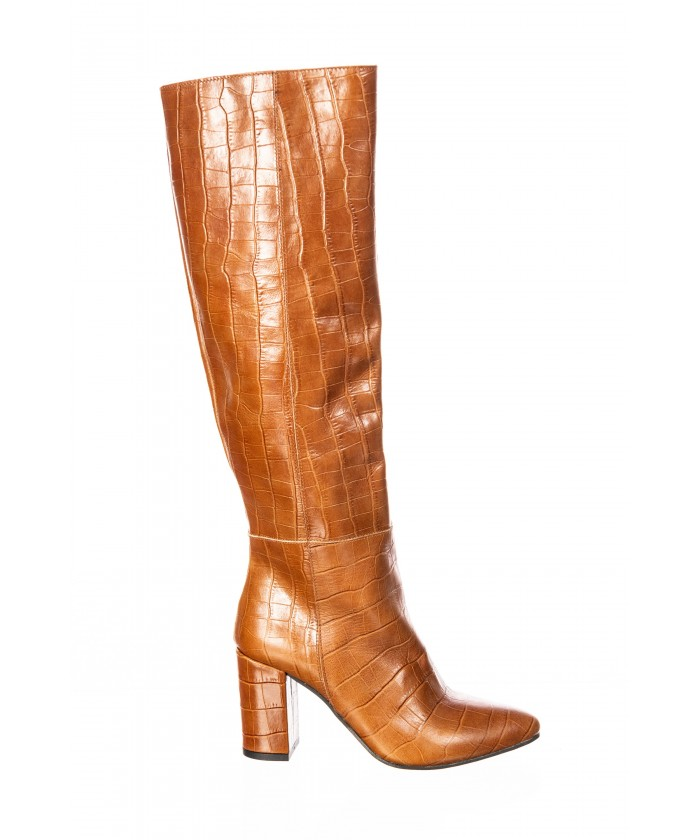 Botte : Cuir Croco Camel