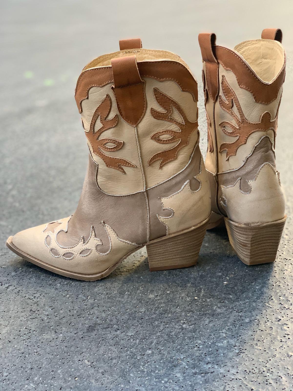 Nouvelle boots santiag femme multicolore au design si