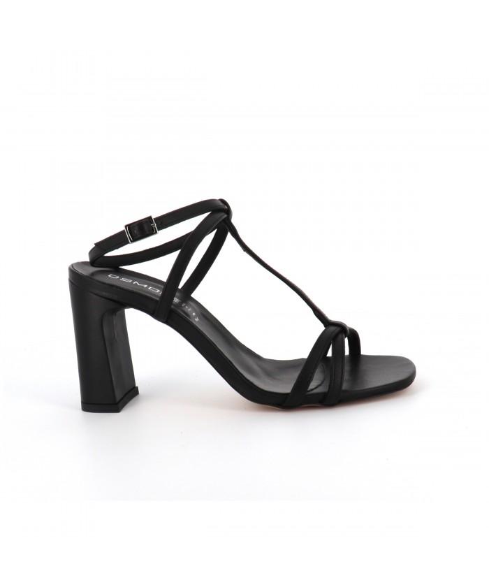 Sandale Noëlla cuir noir à...