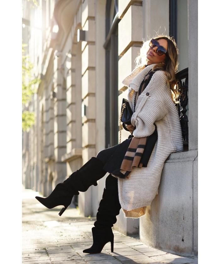 Spot on Femmes Daim Talon bottier à Enfiler Embrasses Cheville Talon Haut Bottes F50579