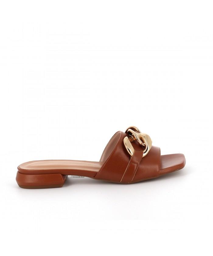 Sandale Goya plate cuir...