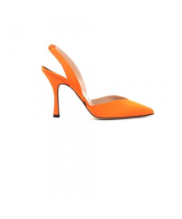 Escarpin Mina satin orange